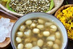 Alimento vietnamita, gruel dolce del seme del loto Fotografia Stock Libera da Diritti