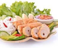Alimento vietnamita, involucri vietnamiti della polpetta, Nam Neung fotografia stock