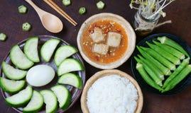 Alimento vietnamita, vegetariano, menu di dieta fotografia stock libera da diritti