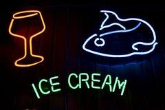 Alimento y bebida del helado foto de archivo