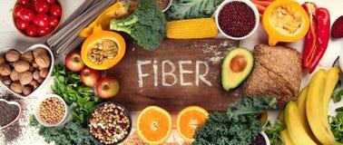 Alimentos altos da fibra fotos de stock
