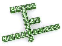 Alimentos biológicos saudáveis Foto de Stock