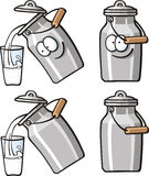 Alimentos bonitos - lata do leite Imagens de Stock Royalty Free