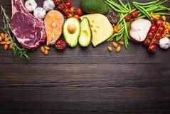 Alimentos da dieta do Keto imagem de stock