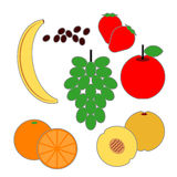 Alimentos da fruta da pirâmide de alimento Imagens de Stock Royalty Free