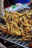 Alimentos da rua - calamar grelhado Foto de Stock Royalty Free