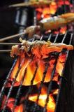 Alimentos da rua - calamar grelhado Fotografia de Stock