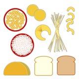 Alimentos de grano de la pirámide de alimento libre illustration