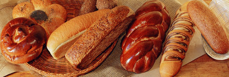 Alimentos de la panadería Fotografía de archivo libre de regalías