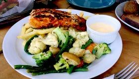 Alimentos de mar servidos deliciosamente fotografia de stock