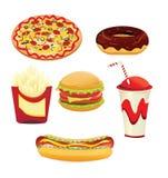 Alimentos de preparación rápida ilustración del vector