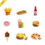 Alimentos de preparación rápida Foto de archivo libre de regalías
