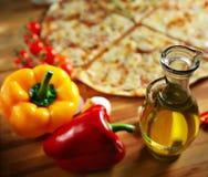 Alimentos de preparación rápida, caliente delicioso Imagen de archivo libre de regalías