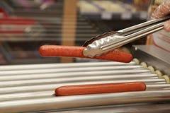 Alimentos de preparación rápida de la salchicha de la parrilla Foto de archivo libre de regalías