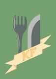 Alimentos de preparación rápida del logotipo, y negocio de restaurante Fotografía de archivo