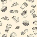 Alimentos de preparación rápida del vector Fotografía de archivo libre de regalías