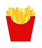 Alimentos de preparación rápida Fried French Gold Fries Potatoes en la envoltura de papel Imágenes de archivo libres de regalías