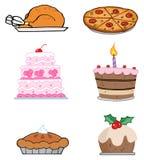 Alimentos del día de fiesta Imagen de archivo