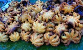 Alimentos deliciosos grelhados dos calamares Fotografia de Stock