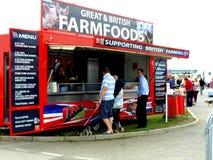 Alimentos do móbil de Ingleses Farmfoods. Foto de Stock Royalty Free