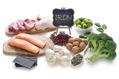 Alimentos dos ricos do ferro Fotos de Stock Royalty Free
