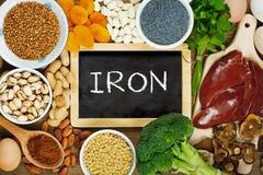 Alimentos dos ricos do ferro fotografia de stock royalty free