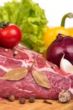 Alimentos frescos crus Imagens de Stock Royalty Free