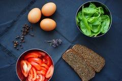 Alimentos frescos para o café da manhã Fotografia de Stock Royalty Free