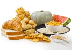 Alimentos Glycaemic altos do índice fotos de stock royalty free
