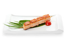 Alimentos grelhados Imagens de Stock