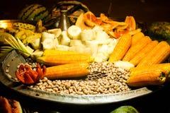 Alimentos indianos da rua Imagem de Stock