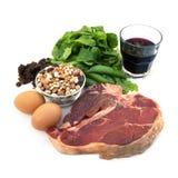Alimentos Iron-Rich fotos de stock royalty free