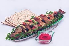 Alimentos judaicos tradicionais da páscoa judaica Fotos de Stock