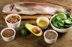 Alimentos o mais altamente em Omega-3 foto de stock royalty free