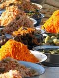 Alimentos orientales del bazar - adobos corean Imagen de archivo