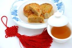 Alimentos para el festival chino del mediados de-otoño Fotografía de archivo libre de regalías