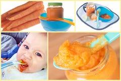 Alimentos para niños imagen de archivo