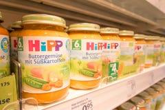 Alimentos para niños de Hipp Imagen de archivo