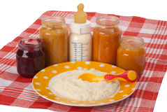 Alimentos para niños Foto de archivo