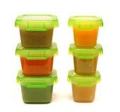 Alimentos para niños hechos en casa Foto de archivo