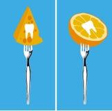 Alimentos para os dentes saudáveis Fotografia de Stock