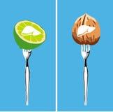 Alimentos que limpam o fígado Imagem de Stock