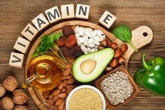 Alimentos ricos na vitamina E Imagens de Stock
