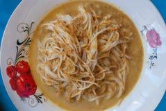Alimentos tailandeses da aletria do arroz Fotografia de Stock