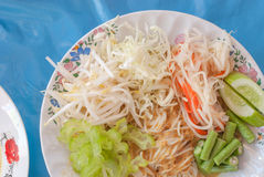 Alimentos tailandeses da aletria do arroz Fotos de Stock Royalty Free