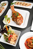 Alimentos tailandeses frescos Assorted Imagem de Stock Royalty Free