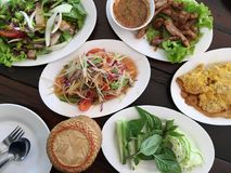 Alimentos tailandeses, gourmet tailandês, culinária tailandesa Fotografia de Stock