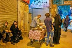 Aliments de préparation rapide à Chiraz, Iran Photographie stock