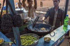 Aliments de préparation rapide à Jodhpur, Inde Images stock