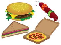 Aliments de préparation rapide Images libres de droits